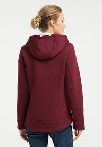Schmuddelwedda - Fleece jacket - bordeaux melange - 2