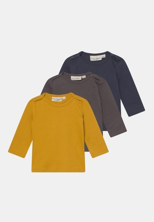 LUNA BABY 3 PACK UNISEX - Long sleeved top - navy/mustard/anthracite