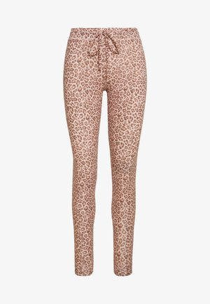 LEOPARD PLUSH - Tracksuit bottoms - blush