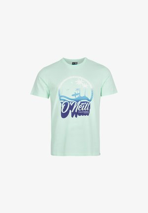 TEES GRADIENT VINTAGE SURF  - T-shirt med print - bluelight