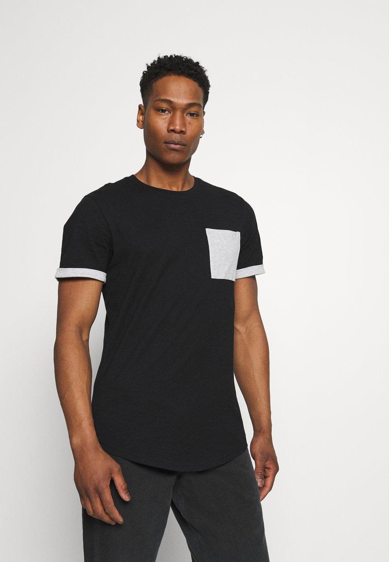 Only & Sons - ONSMATT LIFE LONGY CONTRAST TEE - Print T-shirt - black