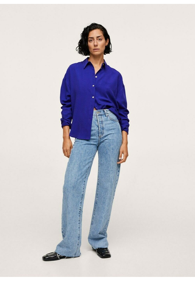Mango - Button-down blouse - bleu