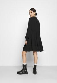 Vero Moda - VMZIGGA FRILL - Shirt dress - black - 2