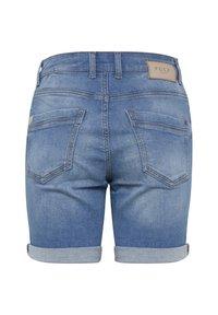 PULZ - Denim shorts - light blue denim - 5