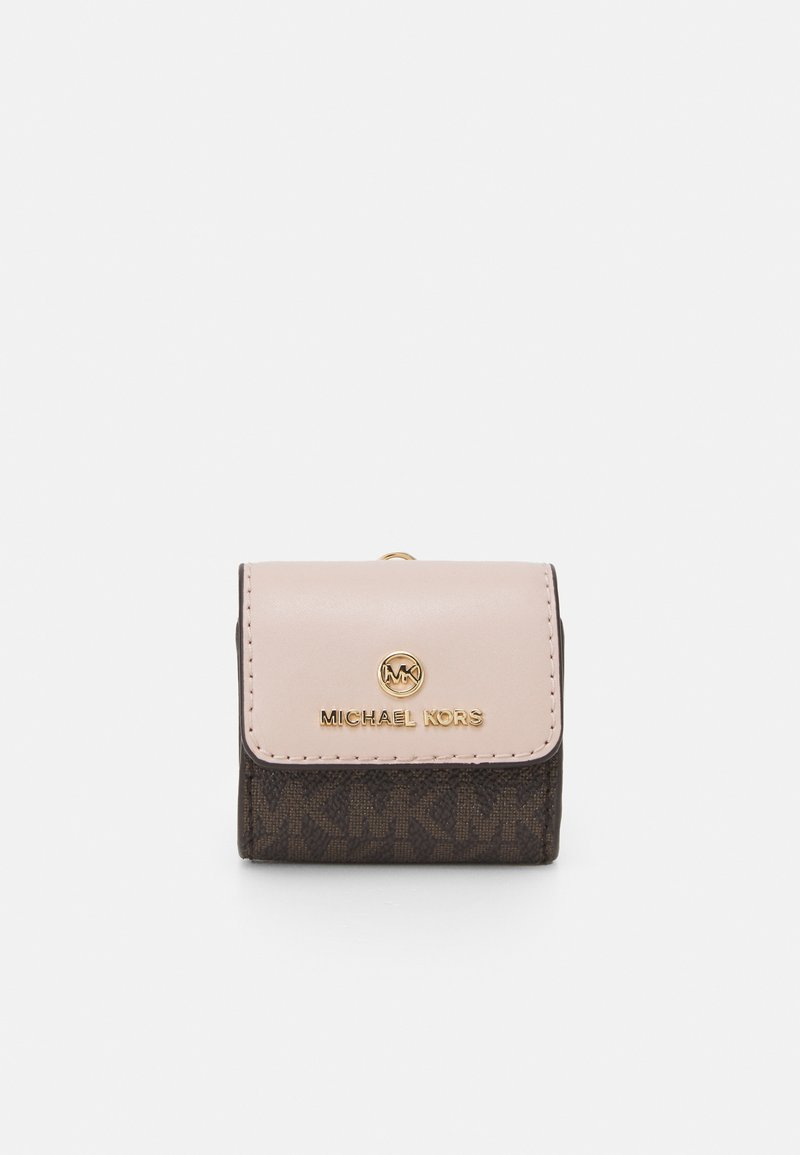 MICHAEL Michael Kors - TRAVEL ACCESSORIES CLIPCASE FOR AIRPODS - Keyring - brown/sof tpink