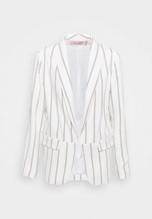 BLAZER STRIPED - Blazer - off-white