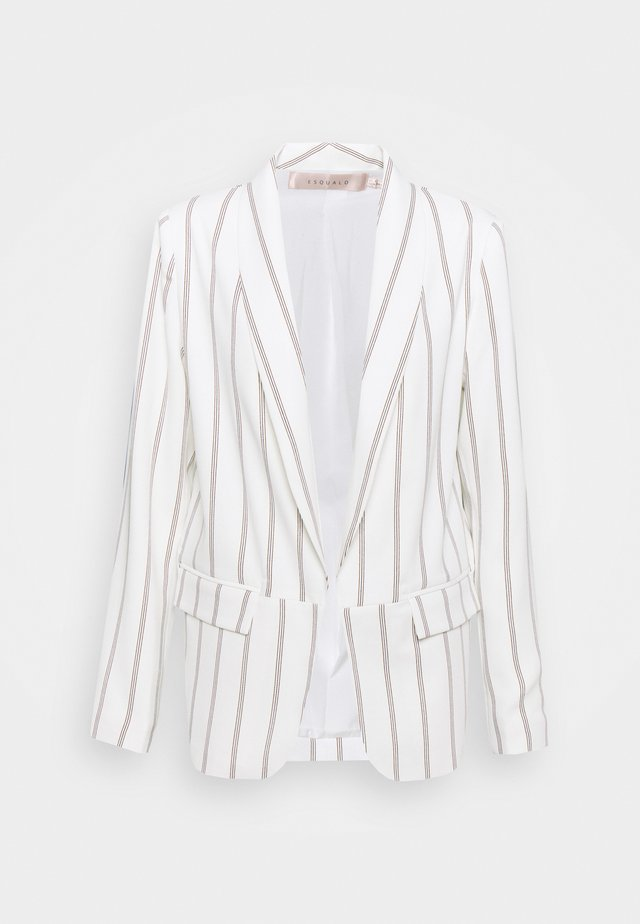 BLAZER STRIPED - Blazer - off-white