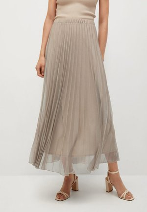 BREEZE-A - Faltenrock - beige