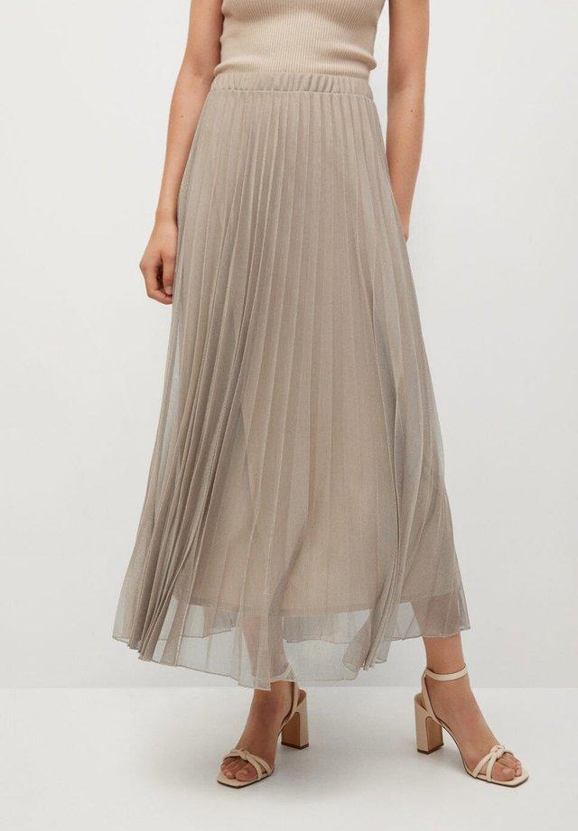 BREEZE-A - Pleated skirt - beige
