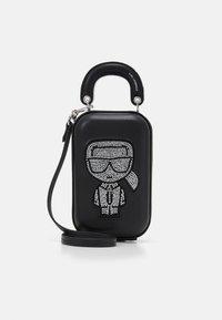 KARL LAGERFELD - IKONIK CLUTCH - Across body bag - black - 0