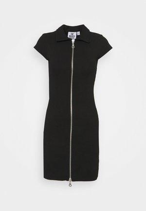 UNKNOWN - Gebreide jurk - black