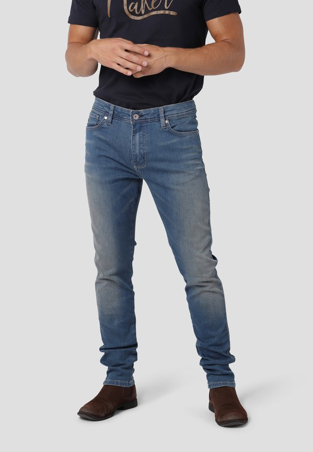 SKINNY - Jeans Skinny Fit - pacific blue used