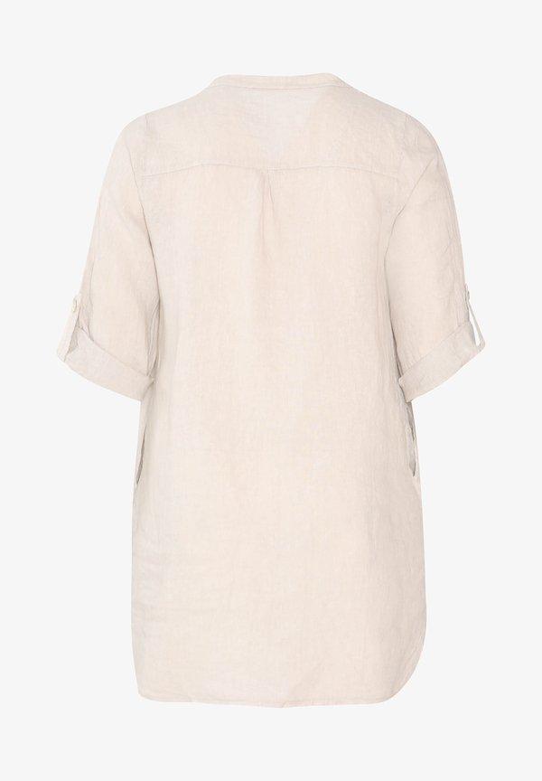 Paprika MIT STICKEREIEN UND PAILLETTEN - Koszula - mottled beige/beżowy melanż AREQ