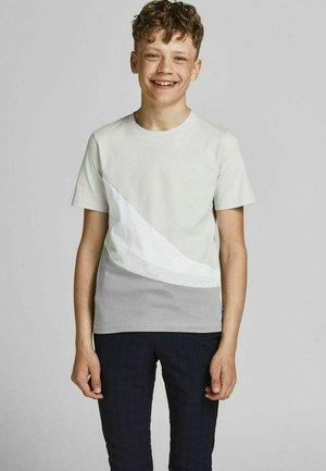 T-shirt med print - glacier gray