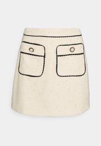 Sister Jane - TIE BREAK TWEED MINI SKIRT - Mini skirt - beige - 3