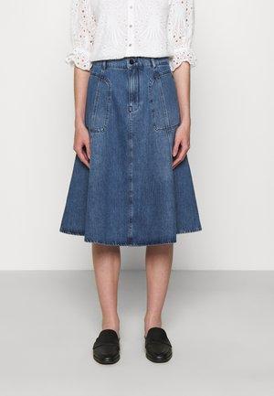 LOREA - Denim skirt - blau