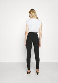 Even&Odd - TAPERED LEG SMART TROUSER - Trousers - black - 2