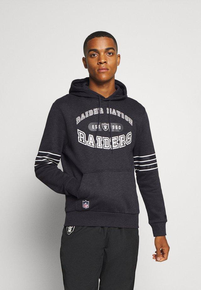 NFL OAKLAND RAIDERSWORDMARK GRAPHIC HOODY - Hoodie - black