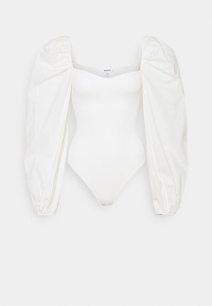 BODYSUIT WITH PUFF SLEEVES - Jumper - white