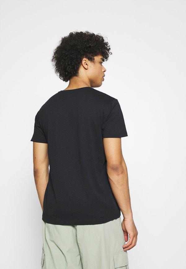 Esprit FEATHER - T-shirt z nadrukiem - black/czarny Odzież Męska SCCC