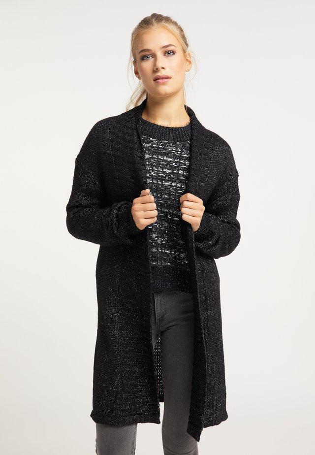 Vest - schwarz melange