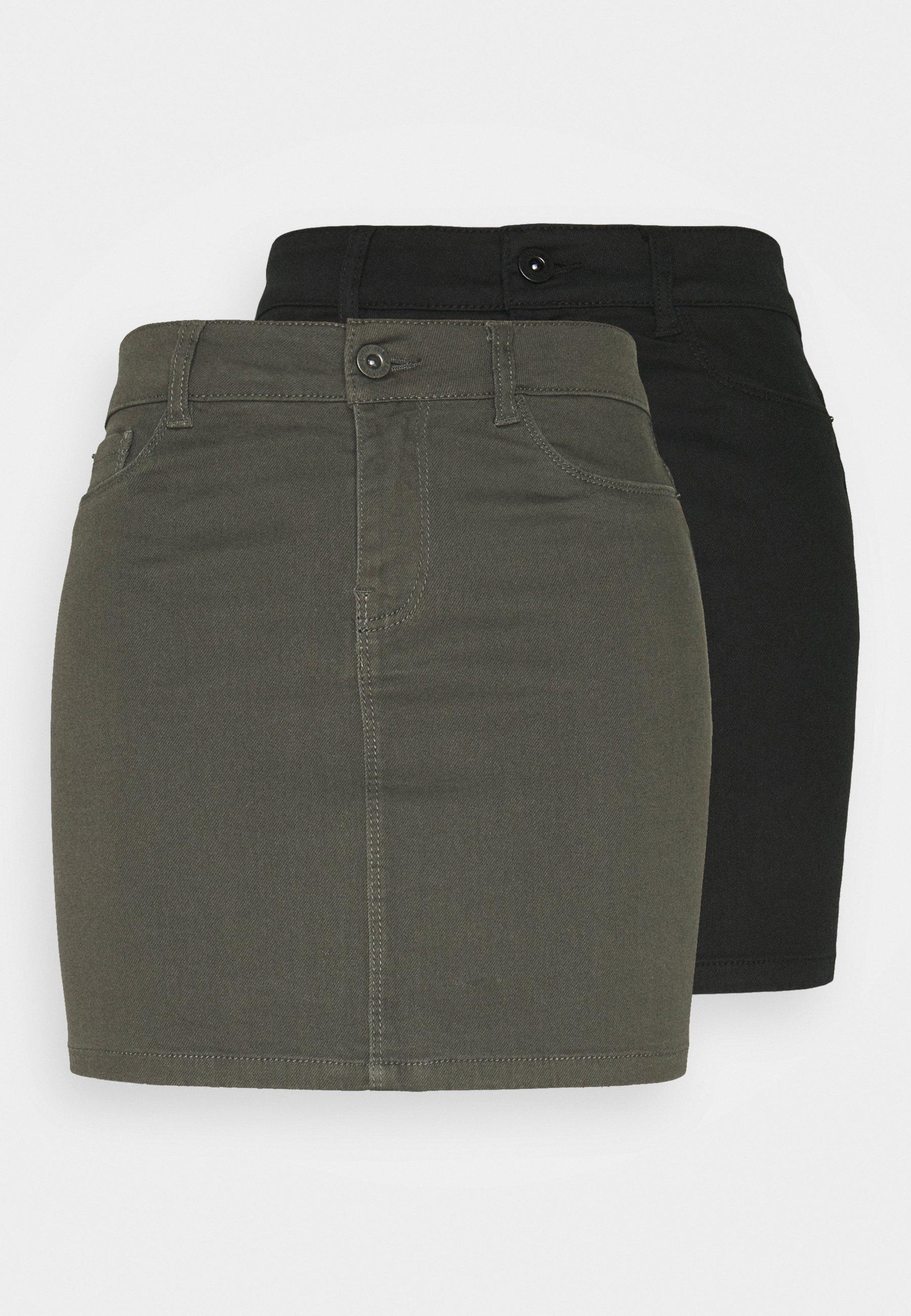 Women VMHOTSEVEN SKIRT 2 PACK - Pencil skirt
