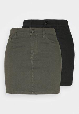 VMHOTSEVEN SKIRT 2 PACK - Pencil skirt - black/beluga