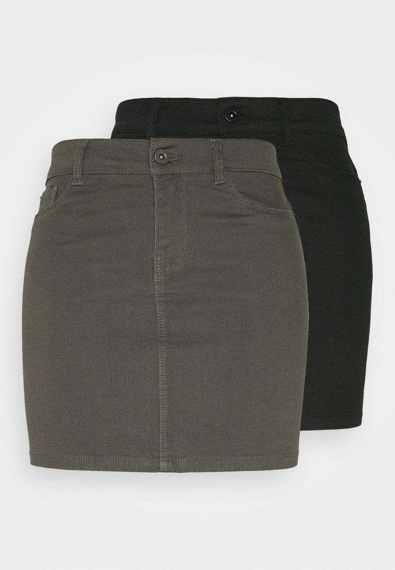 Vero Moda Tall - VMHOTSEVEN SKIRT 2 PACK - Pencil skirt - black/beluga