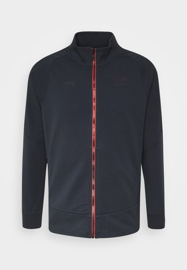 TRACK - veste en sweat zippée - navy