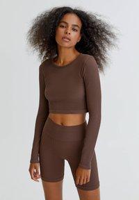 PULL&BEAR - Long sleeved top - brown - 0