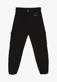 Bershka - CARGOPANTS - Trousers - black - 4