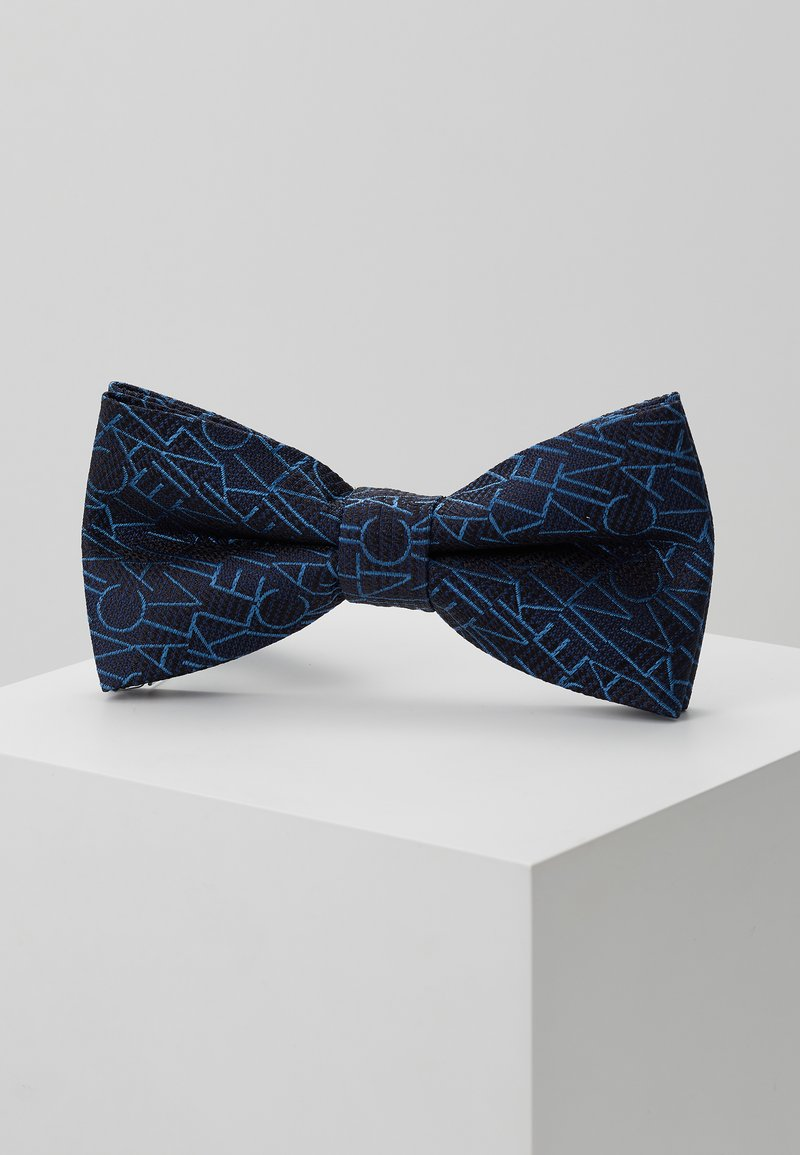 Calvin Klein - ALL OVER LOGO BOW TIE - Bow tie - blue