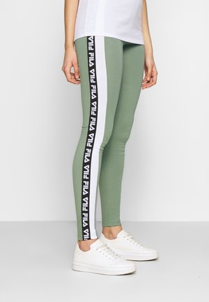 TASYA - Leggings - Trousers - sea spray/bright white
