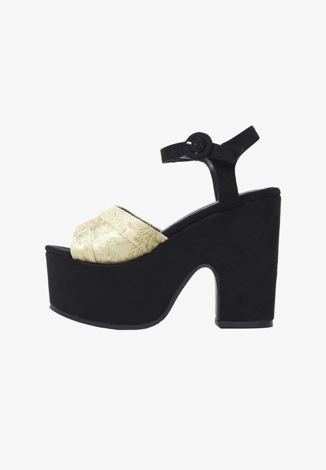 Sandales à talons hauts - black/ gold