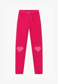 Blue Seven - KIDS HEARTS  - Tracksuit bottoms - magenta - 0