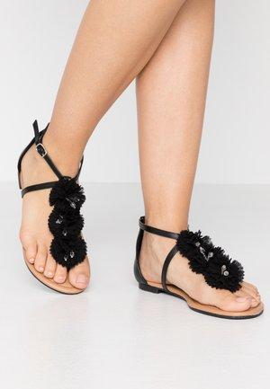FLEURS  - Sandalias de dedo - black