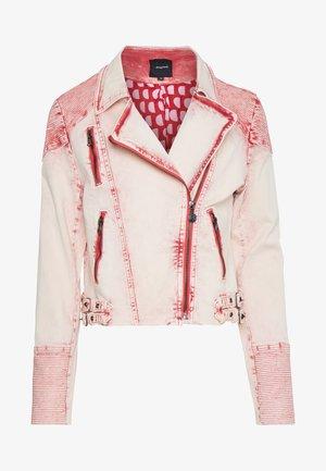 Denim jacket - haute red
