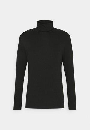 BASIC TURTLE NECK LONGSLEEVE - Long sleeved top - black
