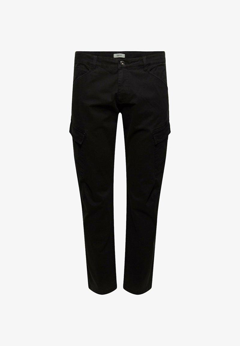 Esprit - Cargo trousers - black