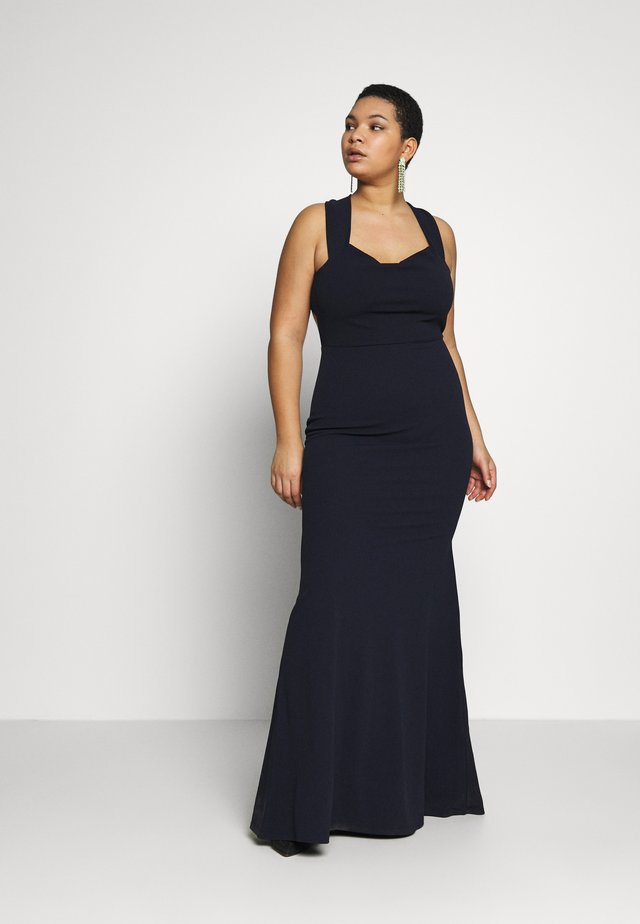 BARDOT CROSS BACK DRESS - Robe longue - navy