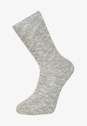 FASHION SLUB - Sokken - gray/white
