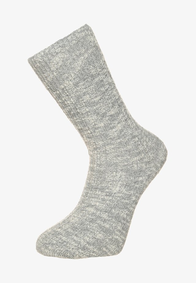 FASHION SLUB - Socks - gray/white