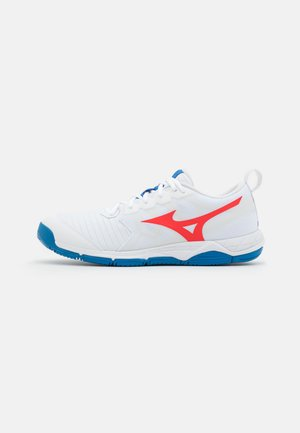 WAVE SUPERSONIC 2 - Chaussures de volley - white/ignition red/french blue