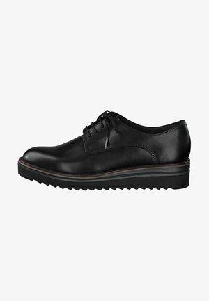 Lace-ups - black leather