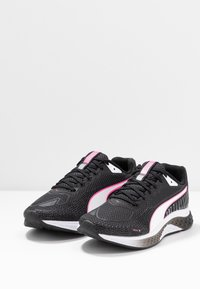 Puma - SPEED SUTAMINA 2 - Neutral running shoes - black/white/luminous pink - 2