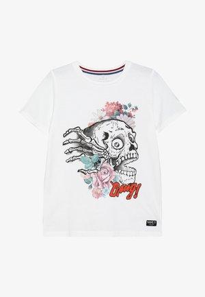 NKMHRUPKOTHA - Print T-shirt - bright white