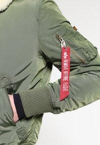 Alpha Industries - INJECTOR III - Blouson Bomber - sage green - 4