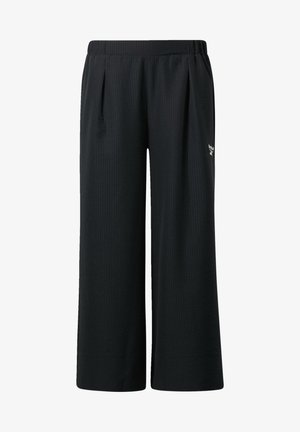 CLASSIC CROPPED WIDE TEAMSPORTS CASUAL - Trousers - black
