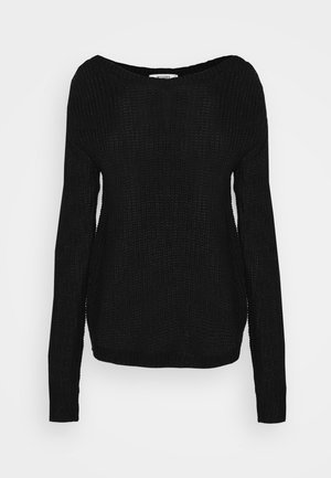 OPHELITA OFF SHOULDER JUMPER - Stickad tröja - black