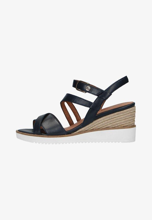 Sandalen met sleehak - dunkelblau